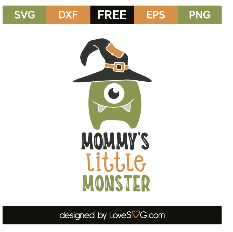 Halloween SVG Mommy's little monster Lovesvg com