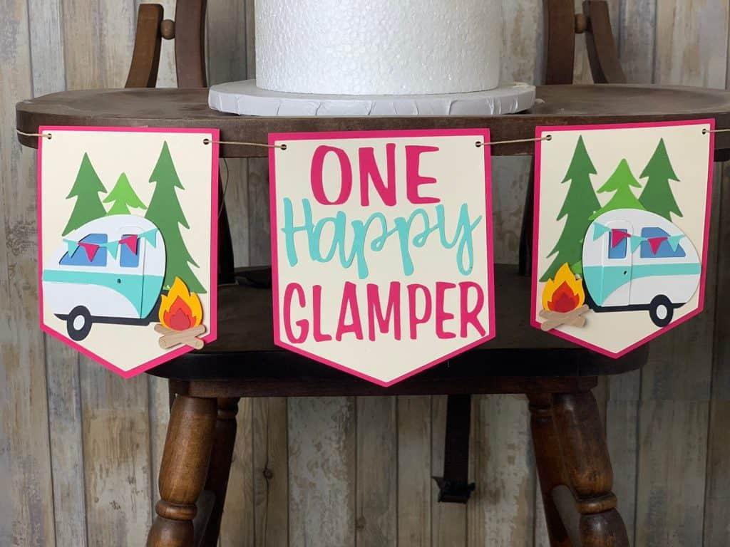 first birthday high chair banner one happy glamper