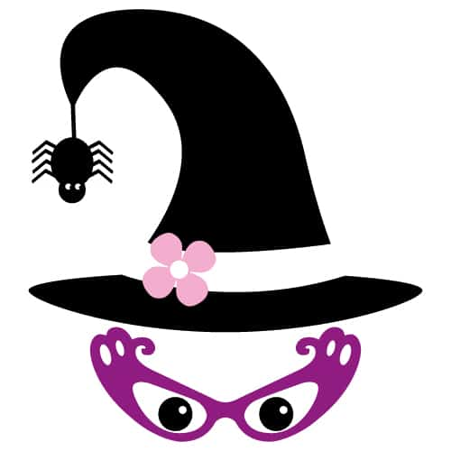 Halloween SVG eyeglasses witch