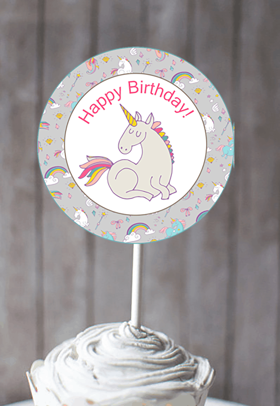 picture about Unicorn Cupcake Toppers Printable referred to as unicorn cupcake toppers Printable - Shabby Mint Stylish Get together