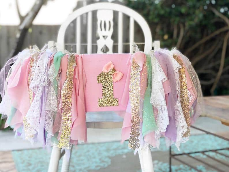unicorn first birthday high chair by With Love Event Decor