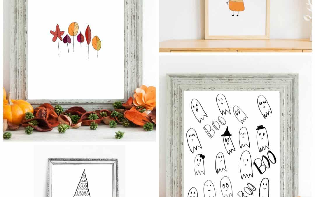 Adorable Fall and Halloween Printables