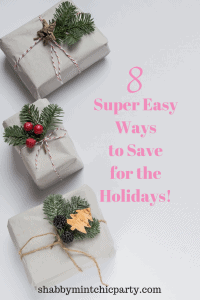 Ways to save for the holidays