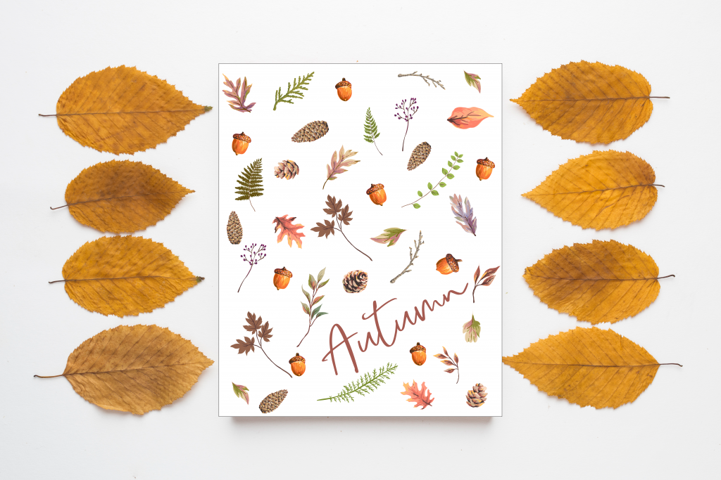 free fall printable Aumn leaves