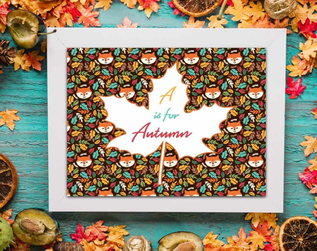 fall printable A is for Autumn