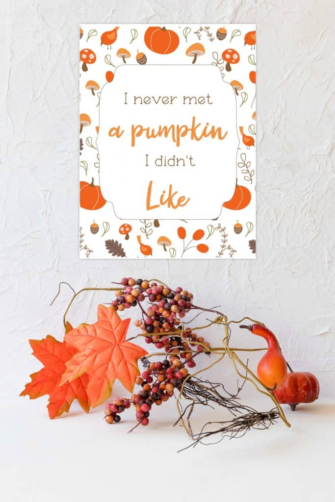 free fall printable I never met a pumpkin i didn't like