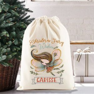 Personalized gift sack for girls