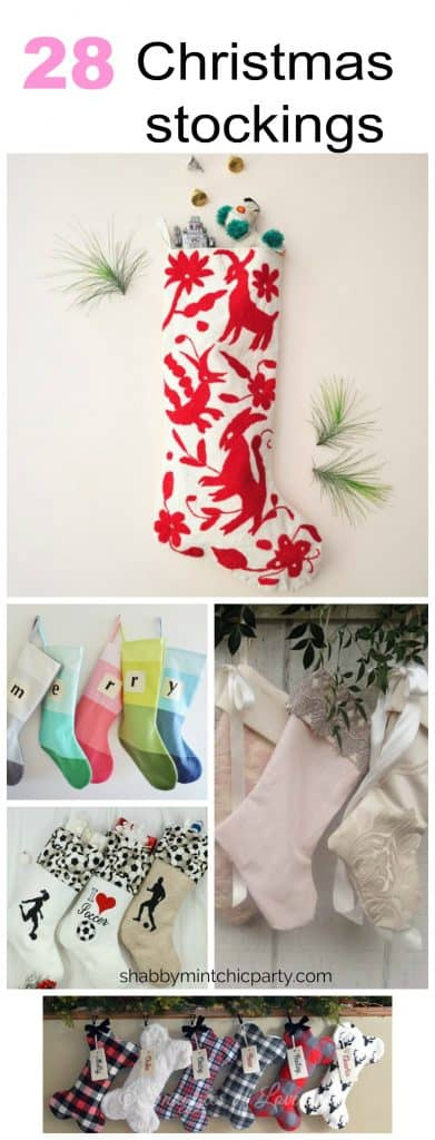28 Beautiful and unique Christmas stockings for everyone in the family that you want to hang up all year round.