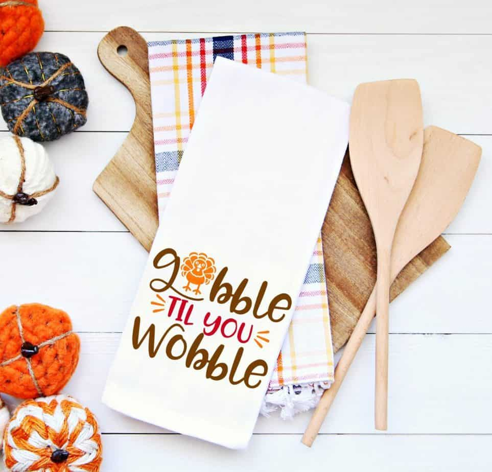 Gobble Til you Wobble Thanksgiving SVGs by Happy go Lucky Blog