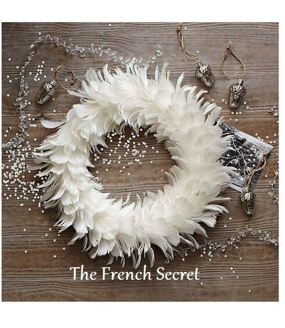 Shabby Chic wreath feather thefrenchsecret