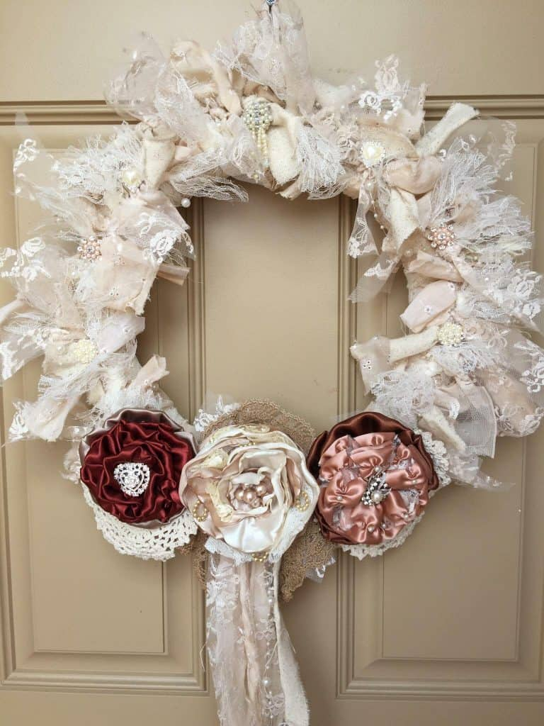 Shabby chic wreath Best Friends Forever 2