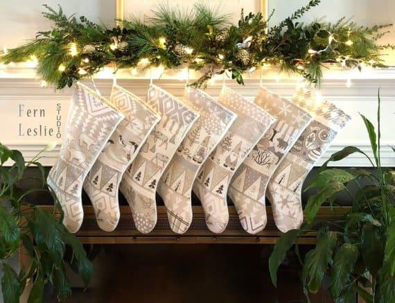 christmas stocking fern leslie studio