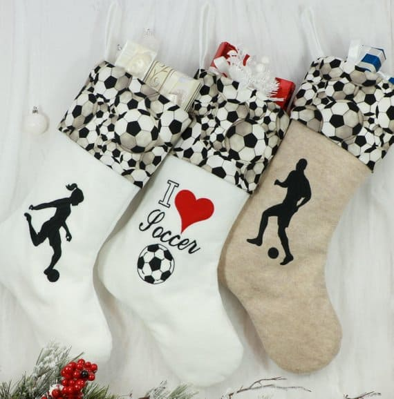 christmas stocking soccer Pinkismart