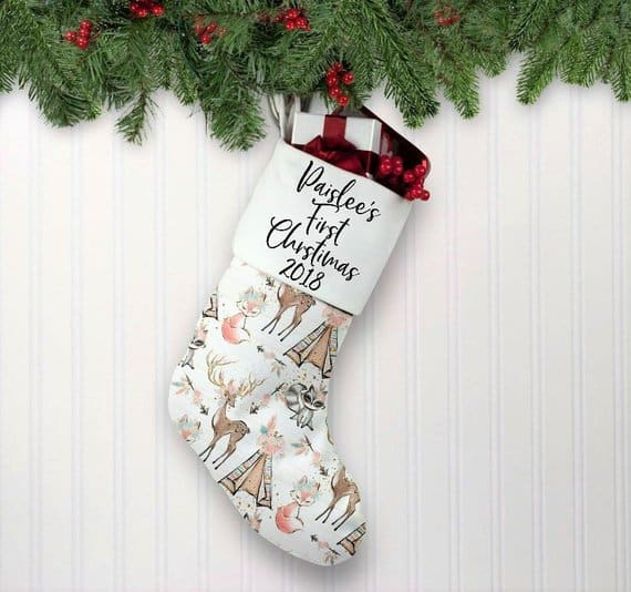 christmas stocking shiny things by jess