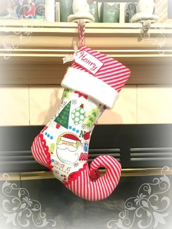Christmas stocking by Sugar Plum Faire