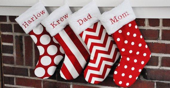 christmas stockings hungbythechimney