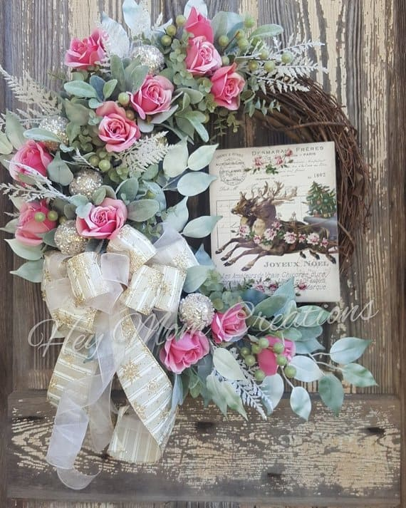 shabby chic wreath hey mom creations