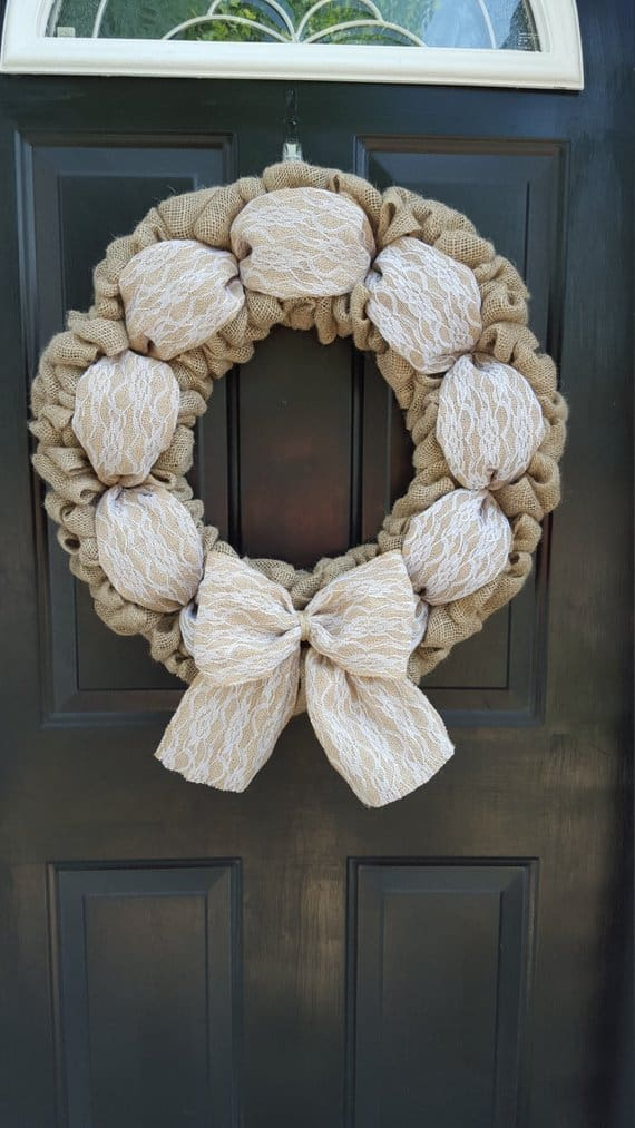 shabby chic wreath Loves House of Burlap