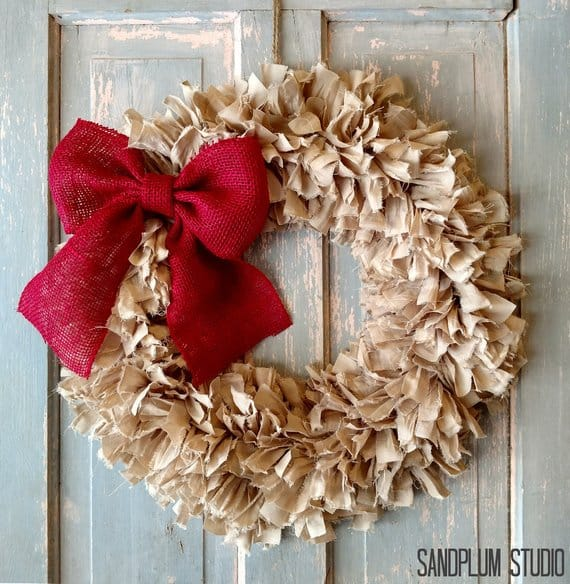 shabby chic wreath sandplum studio