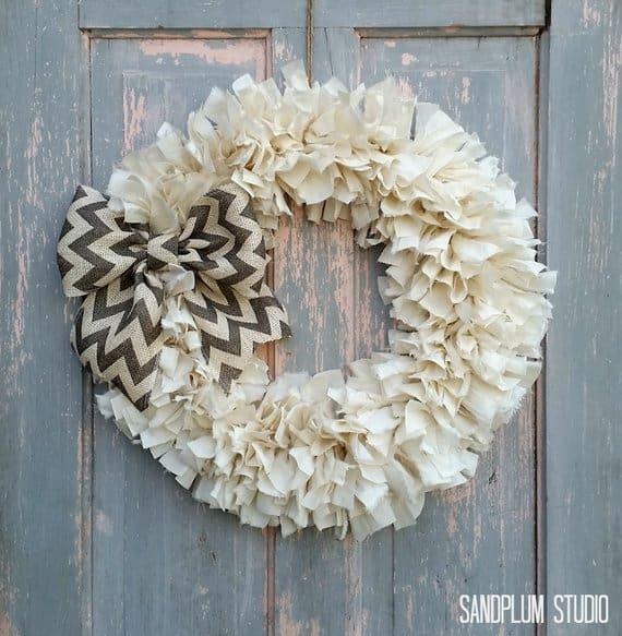 shabby chic wreath sandplum studio
