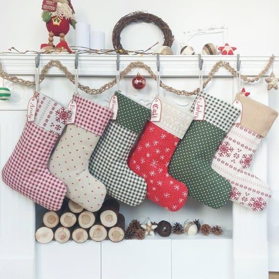 christmas stocking burlap season
