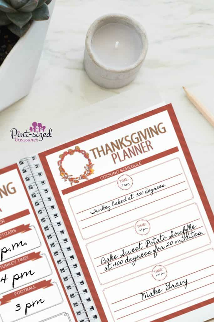Thanksgiving Planner by Pint Sized Treasures