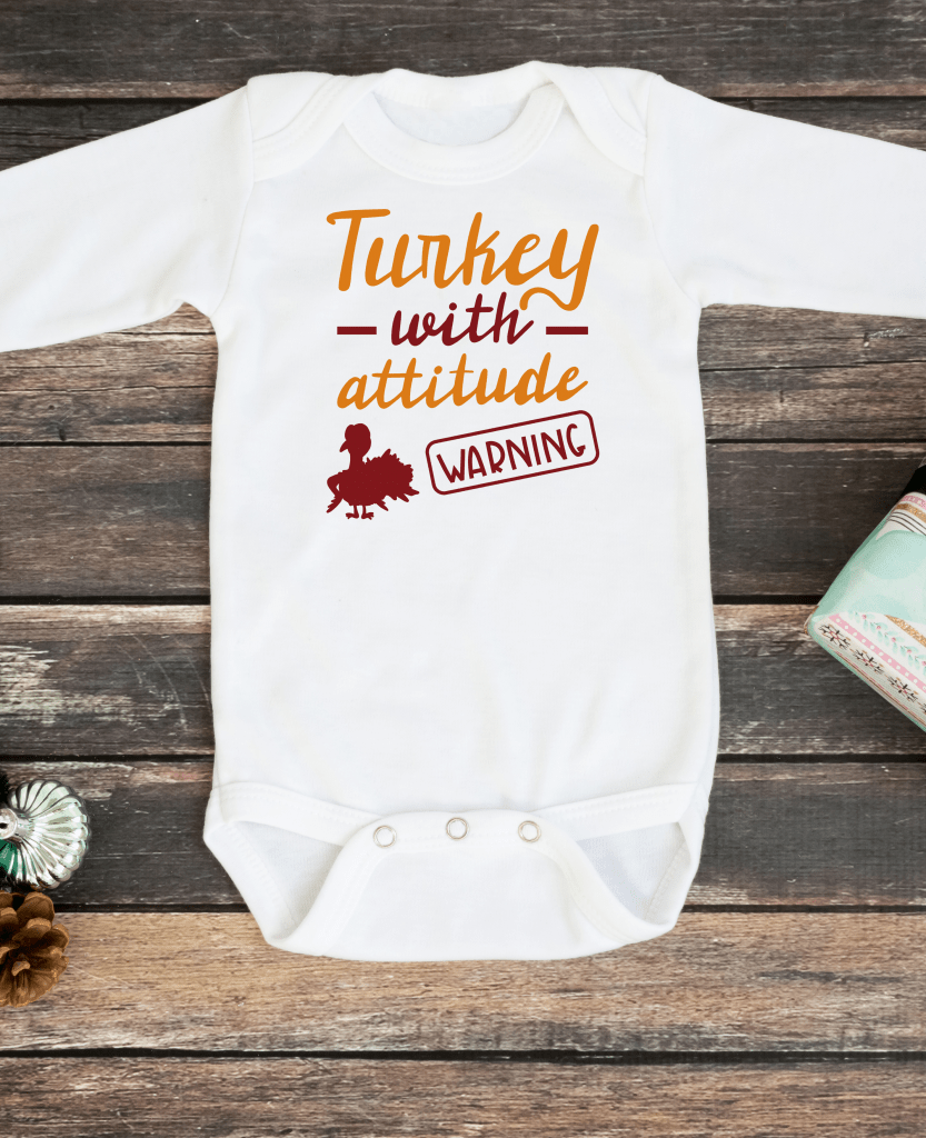 turkey with attitude thanksgiving svg