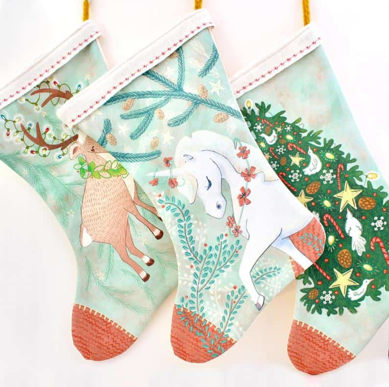 unicorn stocking from The Sunny Lee Studio