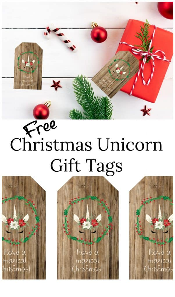 Christmas unicorn gift tags interest