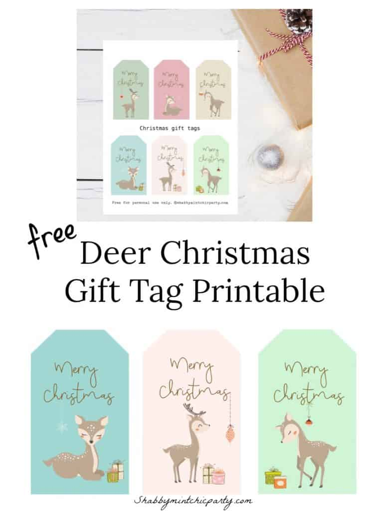Deer christmas Gift Tag