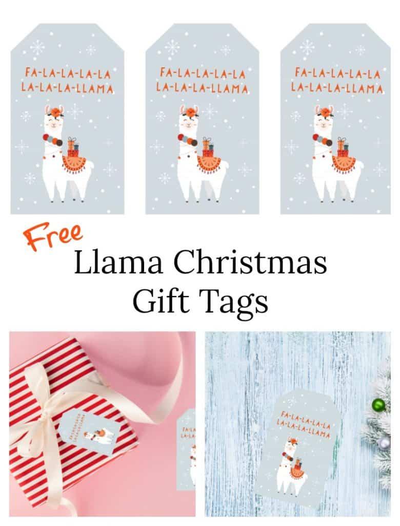 LLama Christmas gift tag