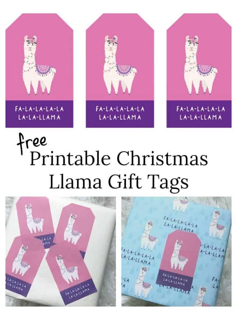 Purple llama christmas gift tags pinterest