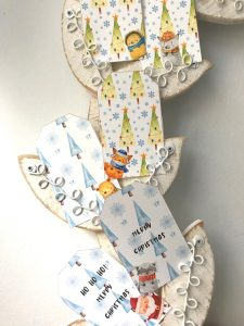 Christmas gift tags. Fun winter animal gift tags