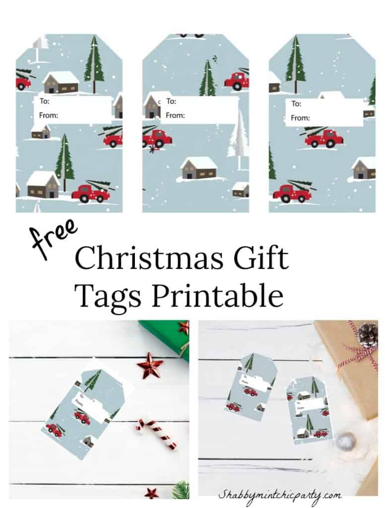 christmas gift tags pick up truck pinterest