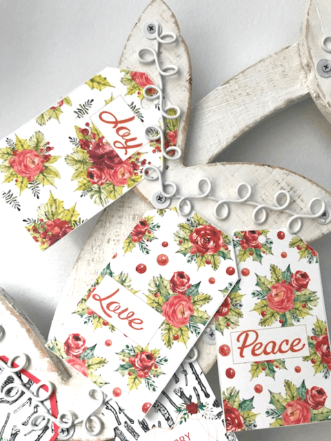 Christmas gift tags - orange flowers make beautiful shabby chic presents