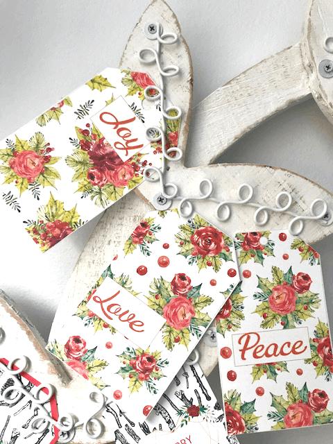 Christmas gift tags - orange flowers make beautiful shabby chic presents