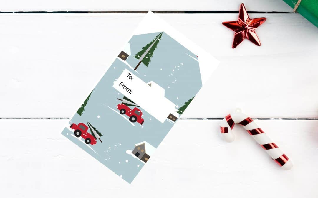 Free Christmas gift Tags – Day 9