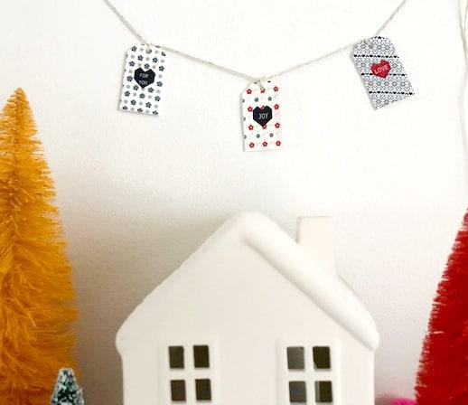 Christmas gift tags shrinky dink modern gift tags