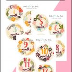 Colorful floral baby milestone printables