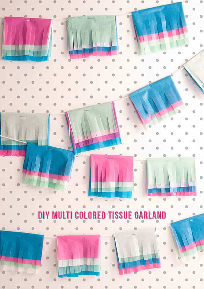 5 ways to decorate a party with tissue papers. Tissue paper garland