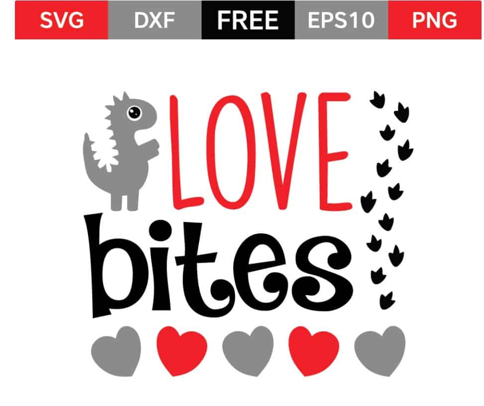Valentine's Day SVG Love Bites