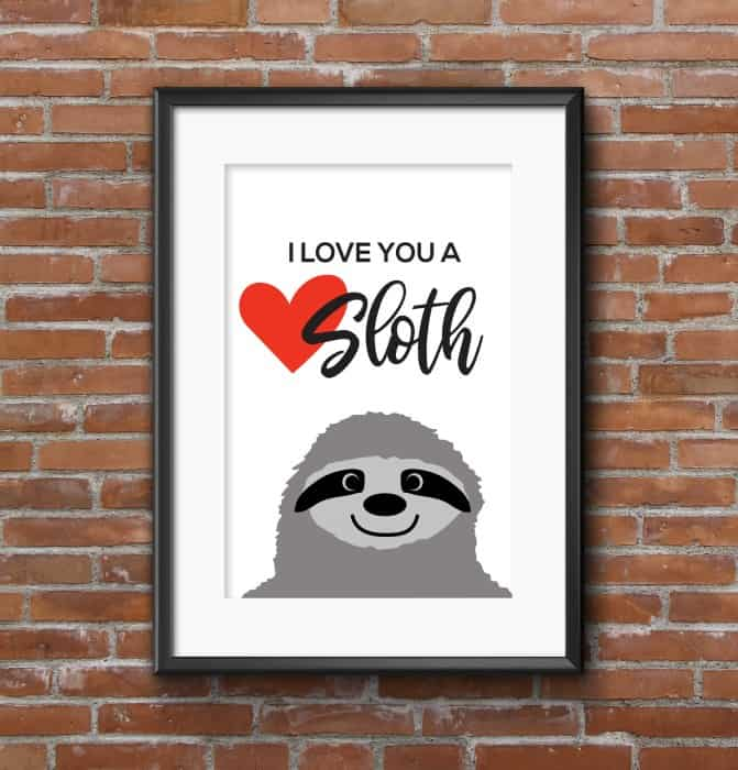 Valentine's Day SVG Sloth-heart