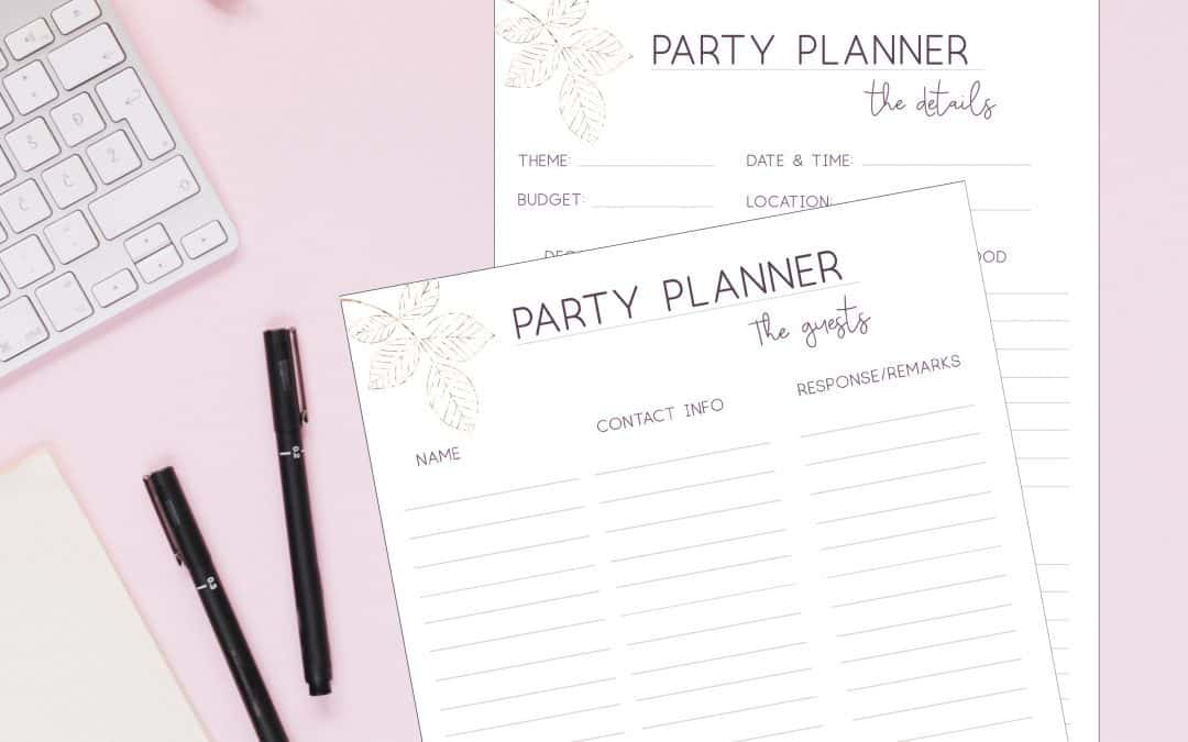 party planner guests printable