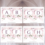 Free Printable: Rose Alphabet Banner