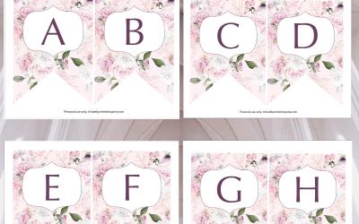 Free Printable: Rose Alphabet Banner