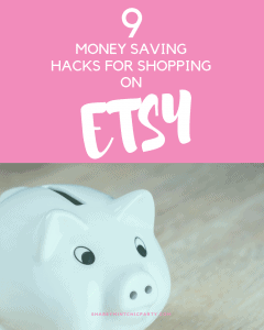 Etsy hacks for saving money