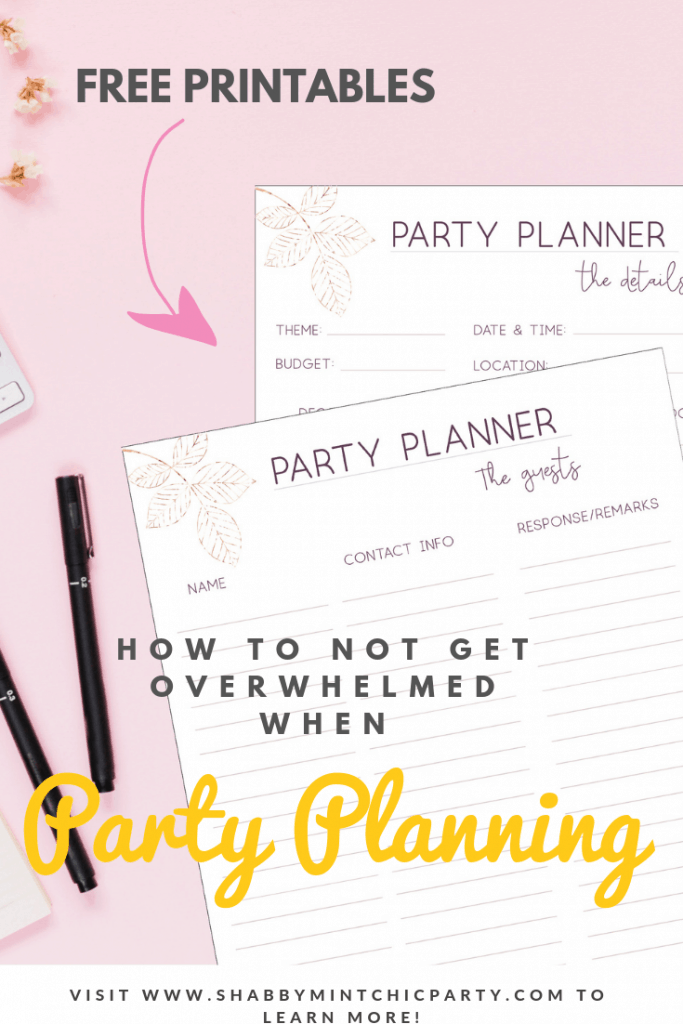 Party Planner Printable
