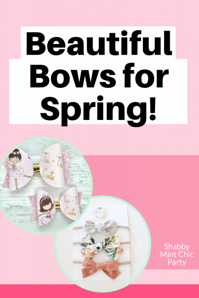 Shabby-Mint-Chic-Party-Pinterest-spring girl hair bows