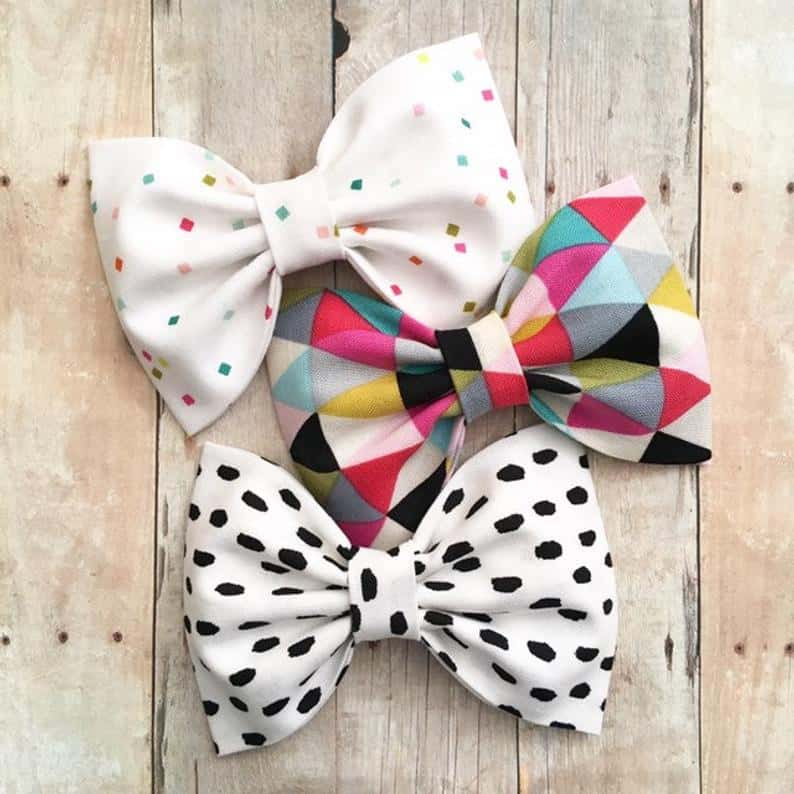 colorful print bows by Splendid Bee