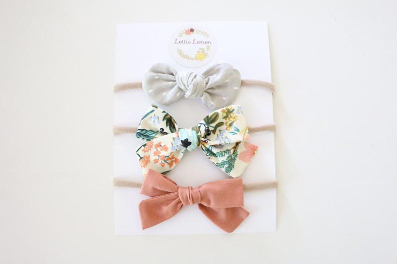 summer baby bows by lottie lemon